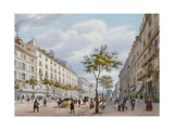 The Boulevard Des Italiens, C.1840 Giclee Print by Felix Benoist