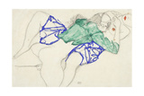 Two Friends, Reclining (Tenderness), 1913 (Pencil and Tempera on Paper) Giclee Print by Egon Schiele