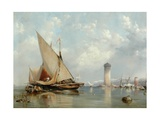 Off the Coast of Leghorn, 1848 Giclee Print by Edward William Cooke