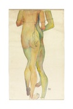 Two Standing Nudes, 1913 Giclee Print by Egon Schiele