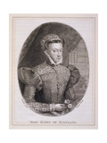 Mary Queen of Scots (1542-87), Engraved by George Vertue (1684-1756) Giclee Print by Federico Zuccaro