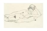 Reclining Nude; Liegender Akt, 1914 Giclee Print by Egon Schiele