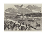 The Paris Fetes, Oriental Joust on the Seine Giclee Print by Edmond Morin