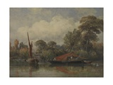 Opposite My House at Barnes, 1862 Giclee Print by Edward William Cooke
