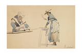 Two Washerwomen Giclee Print by Eugene Louis Boudin