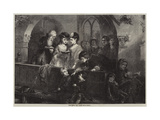 The Family Pew Giclee Print by Edward Hughes
