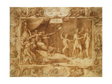Apollo Being Led Astray, C.1572 (Pen and Ink with Wash on Tracing Paper over Pencil) Giclee Print by Federico Zuccaro