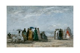 The Beach at Trouville, 1869 Giclee Print by Eugene Louis Boudin