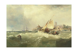 New Castle on the Delaware, 1857 Giclee Print by Edward Moran