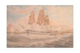 HMS Ganges, and Thetis Off Rio De Janeiro Giclee Print by Emeric Essex Vidal