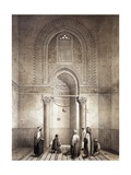 Mihrab of Mosque of Mohammed-Ben-Qalaum (14th Century) in Cairo Impression giclée par Emile Prisse d'Avennes