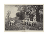 The Nursery Giclee Print by Ernest Albert Waterlow