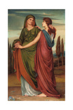 Naomi and Ruth, 1887 Giclee Print by Evelyn De Morgan