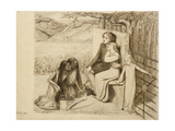 Two Lovers, 1854 Giclee Print by Elizabeth Eleanor Siddal