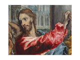 Christ Driving the Traders from the Temple, Detail of Christ, C.1600 Giclee Print by  El Greco