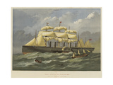 The Great Eastern, Afloat Giclee Print by Edwin Weedon