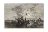 Oyster Dredging Giclee Print by Edward Duncan
