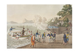 First Disembarkation of the French at the Portuguese Outpost at Dille Giclee Print by Felice Campi