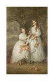 Portrait of the Daughters of the Duke of Manchester, 1894 Giclee Print by Edward Hughes
