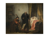 The Awakening of Michel Montaigne Giclee Print by Edouard Jean Conrad Hamman