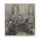 Banquet of the Mayors at the Mansion House Giclee Print by Felix Regamey
