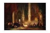 Procession in a Cathedral, C.1860 Giclee Print by Eugenio Lucas velazquez