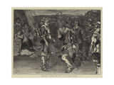 Scene from Charles the First at the Lyceum Theatre Giclee Print by Edward John Gregory