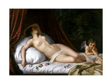 Recumbant Venus with Cupid, 1839 Giclee Print by Emil Jacobs