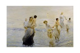 July (On Beach), 1893-1894 Giclee Print by Ettore Tito