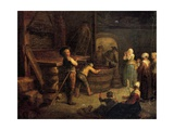 Pressing at Vermenton, 1761 Giclee Print by Etienne Jeaurat