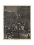 Night Ascent of a Balloon, Chemin De Fer Du Nord, Paris Giclee Print by Edwin Buckman