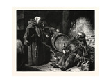 In the Cloister Cellar Giclee Print by Eduard Grutzner