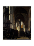 The Interior of a Gothic Church, C.1650 Giclee Print by Emanuel de Witte