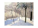 Snowy Landscape in Bois De Boulogne; Paysage De Neige Au Bois De Boulogne, 1905 Giclée-Druck von Felix Edouard Vallotton