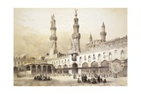 Main Courtyard of Al-Azhar Mosque (10th Century) in Cairo Impression giclée par Emile Prisse d'Avennes