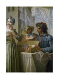 The Ribbon Seller, Ca 1733 Giclee Print by Etienne Jeaurat