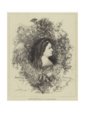 Madame Arnould Plessy, of the Comedie-Francaise Giclee Print by Edmond Morin