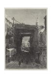 A Street in Cairo Giclee Print by Eduard Hildebrandt