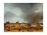 A View of Delft with the Explosion of 1654, 1654 Giclee Print by Egbert van der Poel