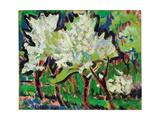 Flowering Trees IV; Bluhende Baume IV, 1909 Giclee Print by Ernst Ludwig Kirchner