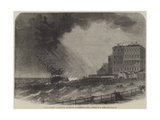 Wreck of the Atlantique, of Nantes, at Brighton Giclee Print by Edwin Weedon