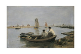 The Estuary Giclee Print by Eugene Louis Boudin