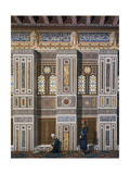 Main Hall of El Bordeyny Mosque (17th Century) in Cairo Impression giclée par Emile Prisse d'Avennes