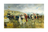 Outside the Plaza De Toros, Madrid, 1897 Giclee Print by Eugenio Lucas Villamil