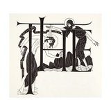 The Baptism of Jesus by John the Baptist from the Four Gospels, 1931 Giclée-tryk af Eric Gill