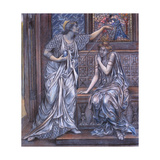 Finished Study for Queen Eleanor and Fair Rosamund, C.1900-5 (Chalk) (See 27988) Giclee Print by Evelyn De Morgan