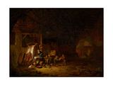 Interior of a Barn, 1644 Giclee Print by Egbert van der Poel