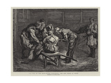 The War in the East, after Alexinatz, the Red Cross at Work Giclee Print by Edward John Gregory