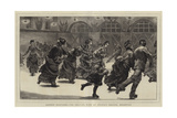 London Sketches, the Skating Rink at Prince's Ground, Brompton Giclee Print by Edward John Gregory