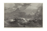 The Paris Universal Exhibition, Dutch Boats Riding Out a Gale Off the Doggerbank Giclee Print by Edward Duncan